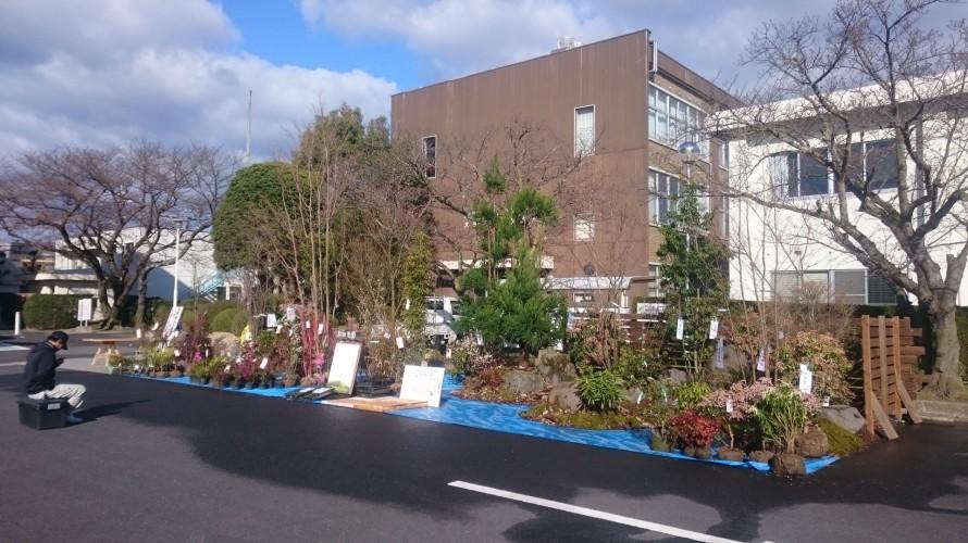 2016年 春の彼岸市(中日っあん)の和田造園モデル空間ブース全景