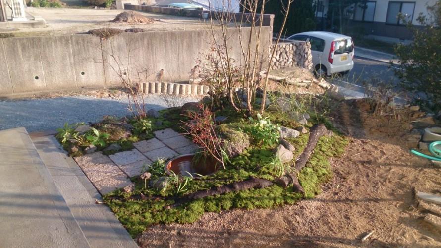 畑の杜「木々に囲まれた自然な庭空間」施工後