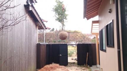 大澤の杜「四季を感じられる庭空間」大澤邸 木々の搬入