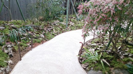 大澤の杜「四季を感じられる庭空間」真砂土舗装施工